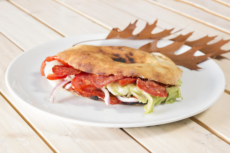 Сандвич осени стоковое изображение rf