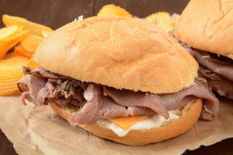Сандвич ростбифа стоковые изображения rf
