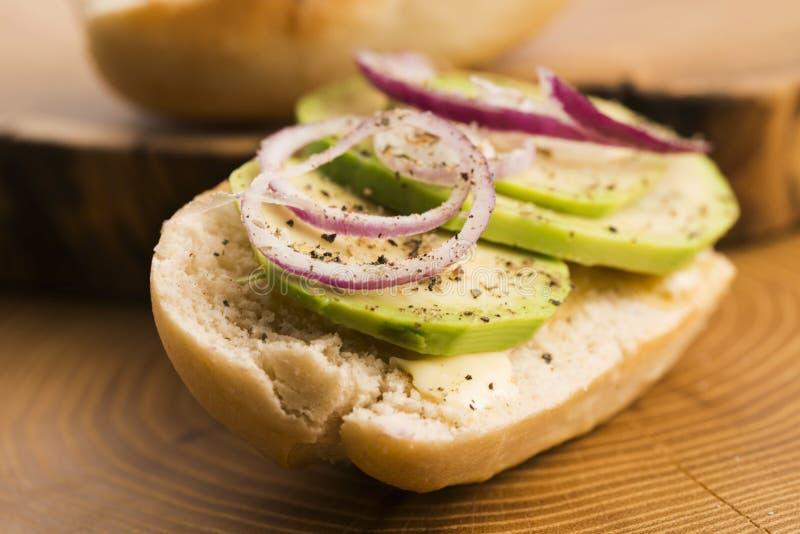 Сандвич с авокадоом стоковое изображение