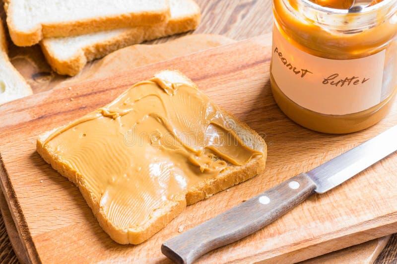 Сандвич с арахисовым маслом стоковые изображения