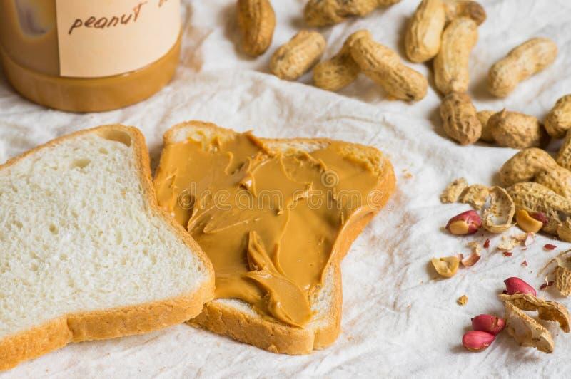 Сандвич с арахисовым маслом стоковые фотографии rf