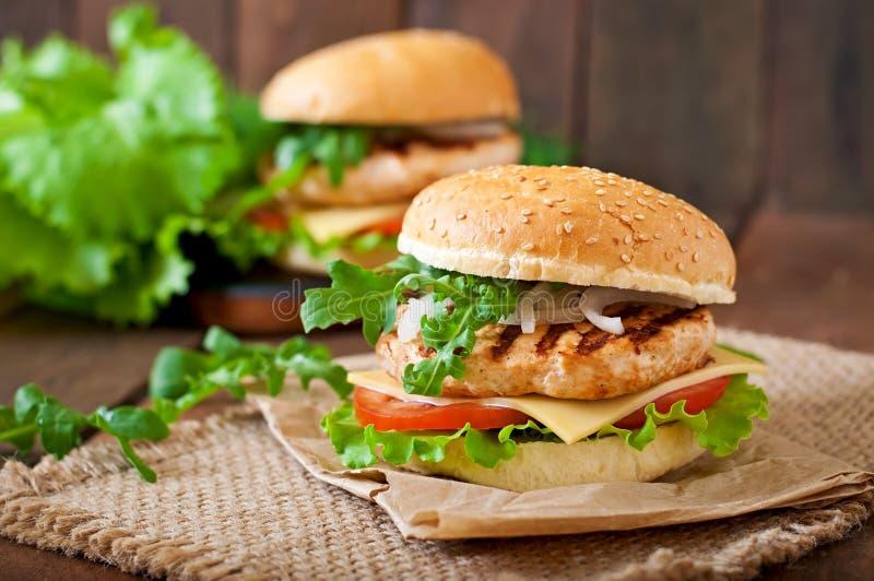 сандвич цыпленка стоковая фотография rf