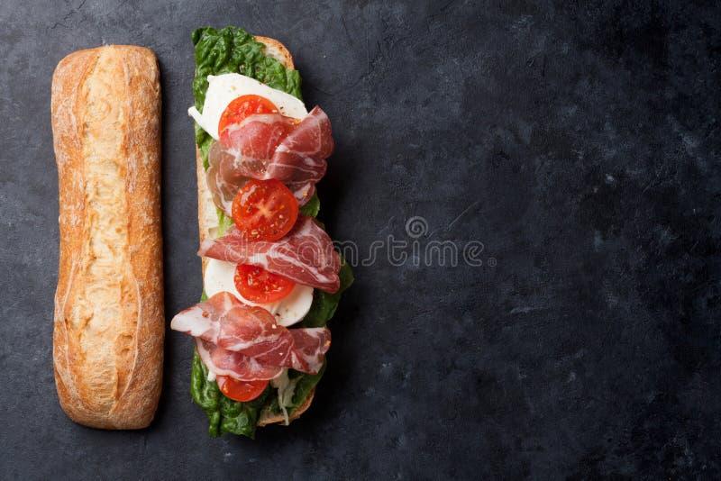 Сандвич Ciabatta стоковое изображение rf