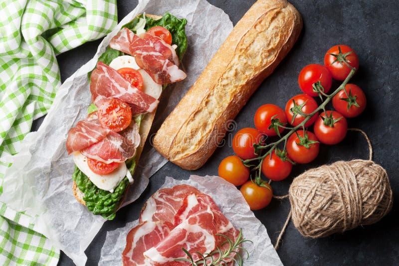 Сандвич Ciabatta стоковая фотография
