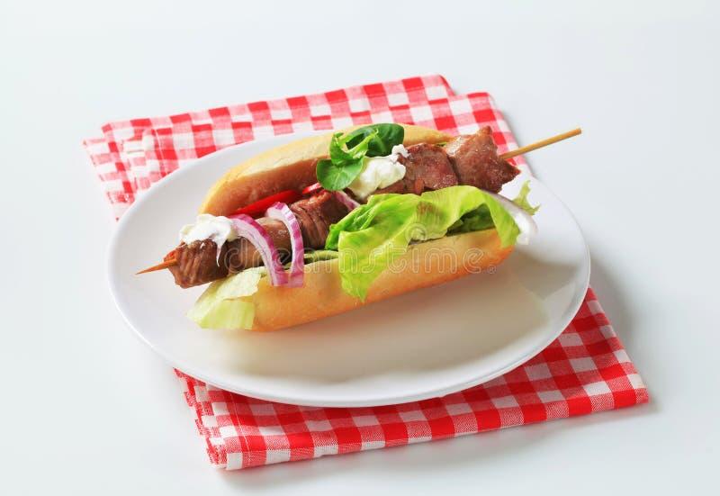 Сандвич kebab свинины стоковое изображение rf