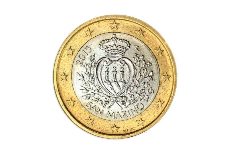 Сан-Марино одно евро стоковое фото rf