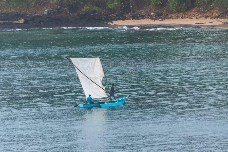 Сан-Томе, рыболовы стоковое изображение