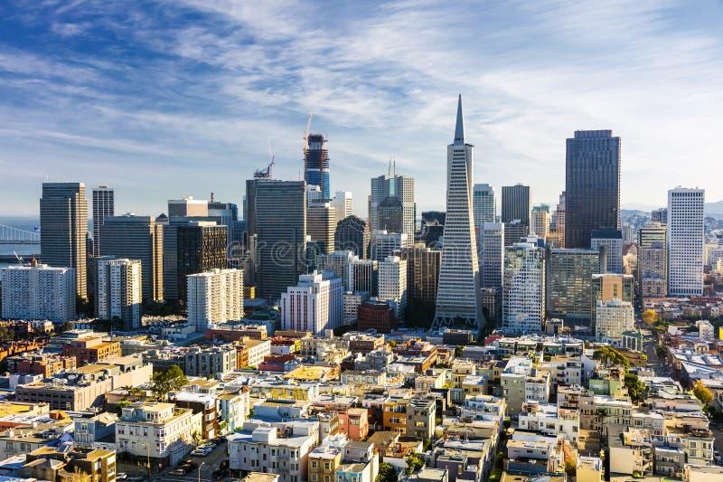 Сан-Франциско городской от башни Coit стоковая фотография