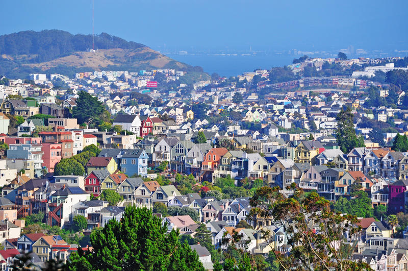 Сан-Франциско, Калифорния, Соединенные Штаты Америки, США стоковые изображения