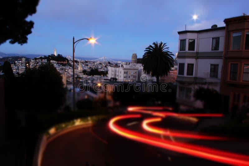 Сан-Франциско на ноче стоковые фотографии rf