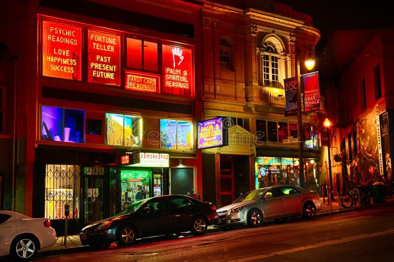 Сан-Франциско - северный пляж на ноче стоковое фото