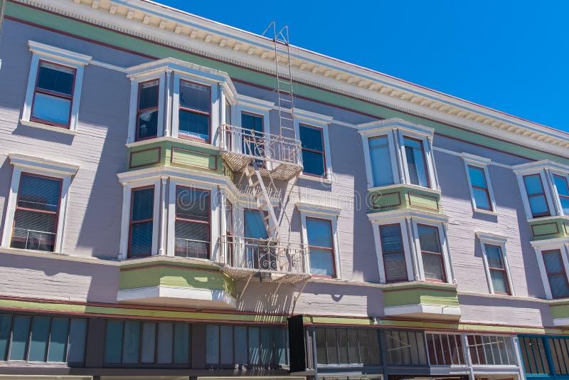 Сан-Франциско, типичные дома стоковое фото