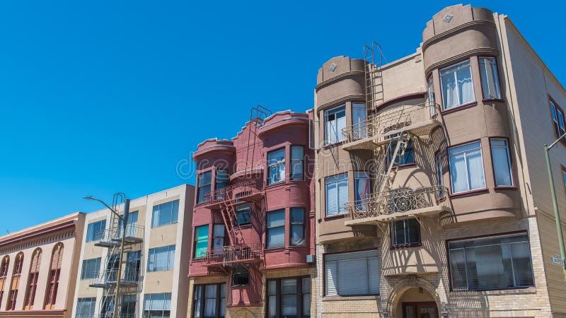 Сан-Франциско, типичные дома стоковое изображение rf