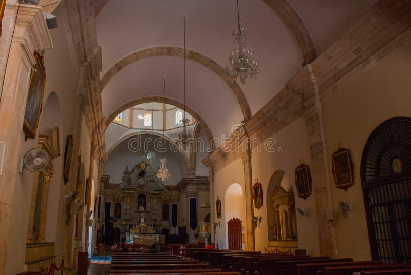 Сан-Франциско de Кампече, Мексика Внутренний собор в Кампече стоковое фото