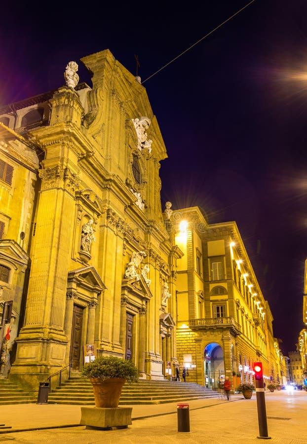 Сан Gaetano, барочная церковь в Флоренсе стоковые фото