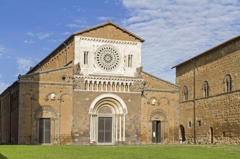 Сан Pietro в Tuscania стоковые фотографии rf