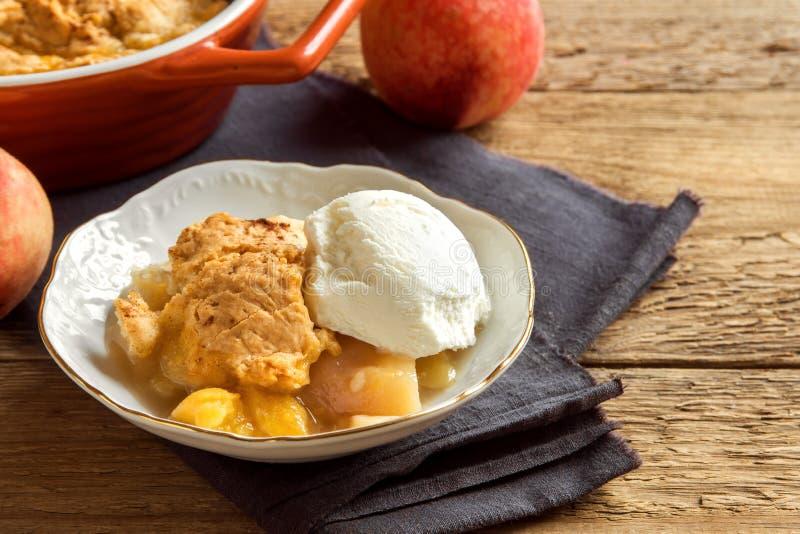 Сапожник персика с мороженым стоковое изображение