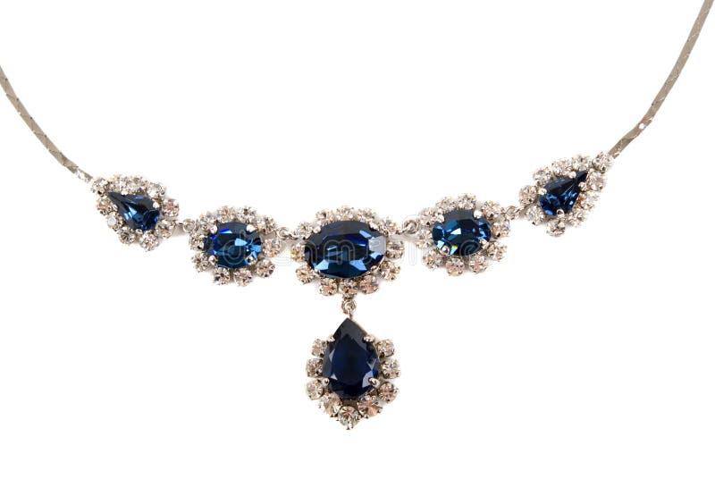 сапфир ожерелья стоковая фотография rf