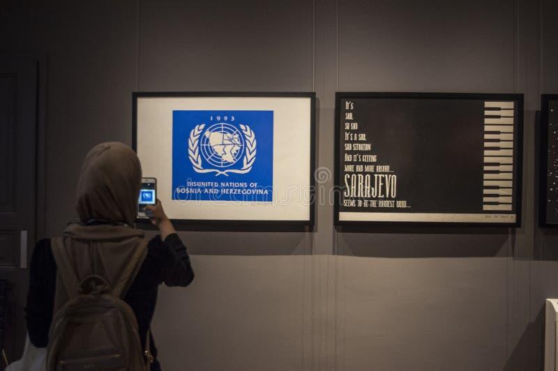 Сараево, Босния и Герцеговина, Европа, трио Сараево, группа графического дизайна, осада, искусство попа, музей, мемориал, военные стоковая фотография rf