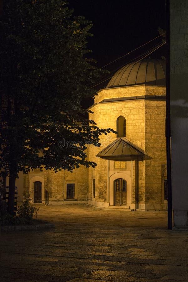 Сараево к ноча стоковое изображение