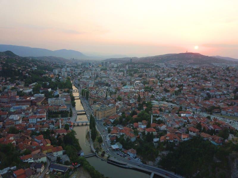 Сараево трутнем стоковое изображение