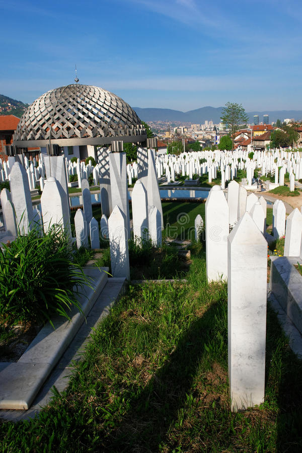 сараево muslim herzegovina кладбища Боснии стоковая фотография