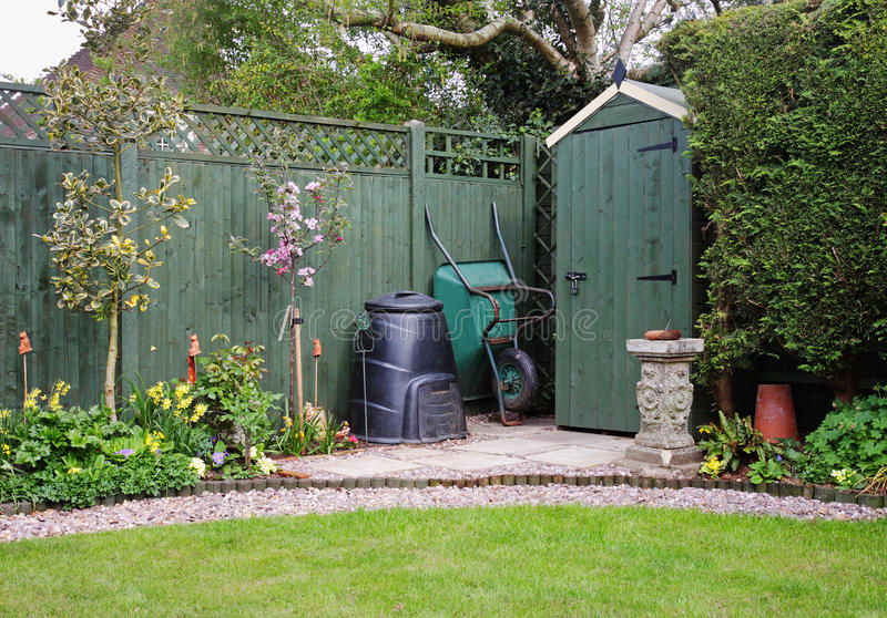 сарай сада компоста ящика английский стоковые фото