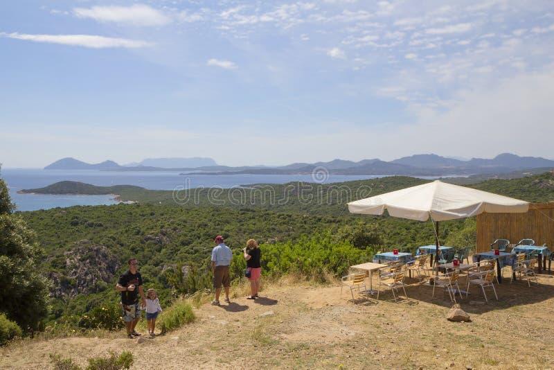 Сардиния, Италия, естественный ландшафт Кафе обочины стоковая фотография rf
