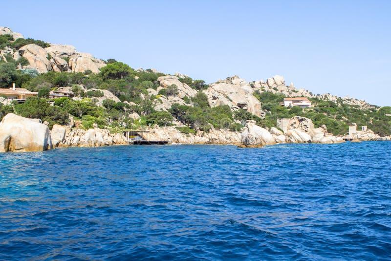 Сардиния, Ла Maddalena arhipelago, Италия стоковое изображение