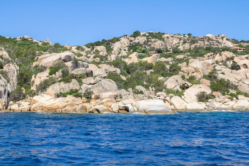 Сардиния, Ла Maddalena arhipelago, Италия стоковое изображение rf