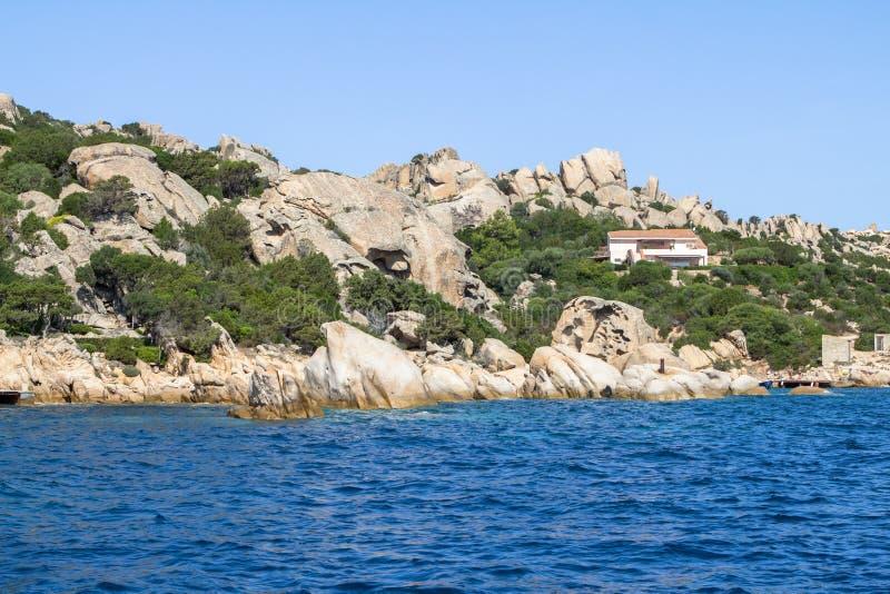 Сардиния, Ла Maddalena arhipelago, Италия стоковые фотографии rf