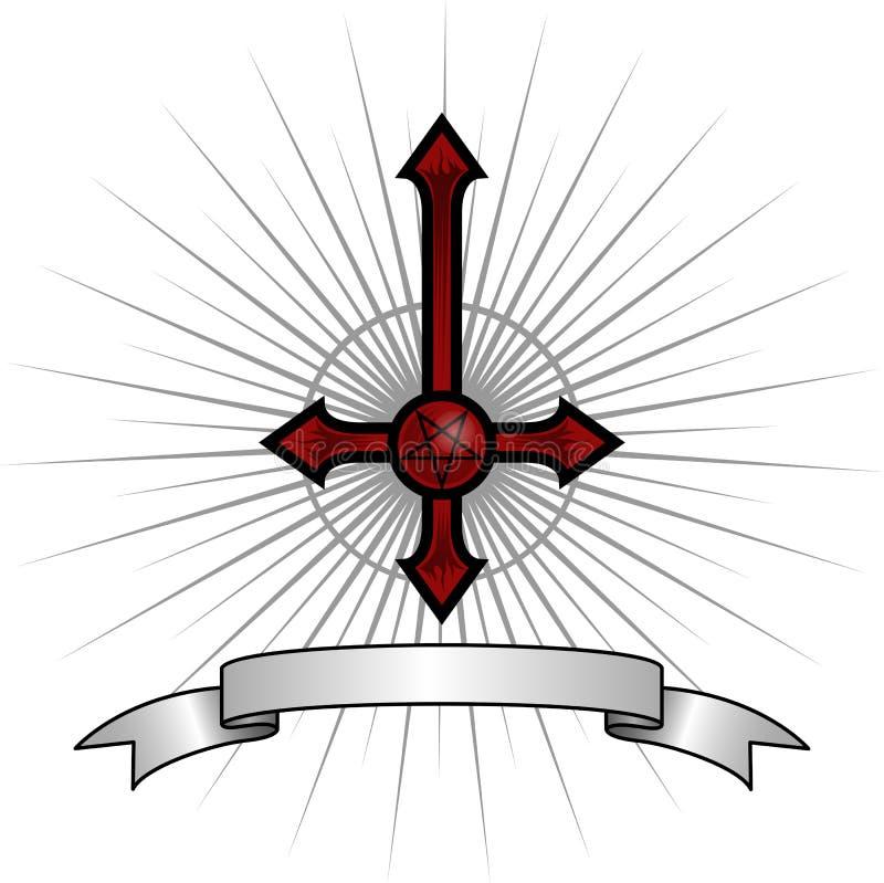 Сатанинский крест стоковое фото rf
