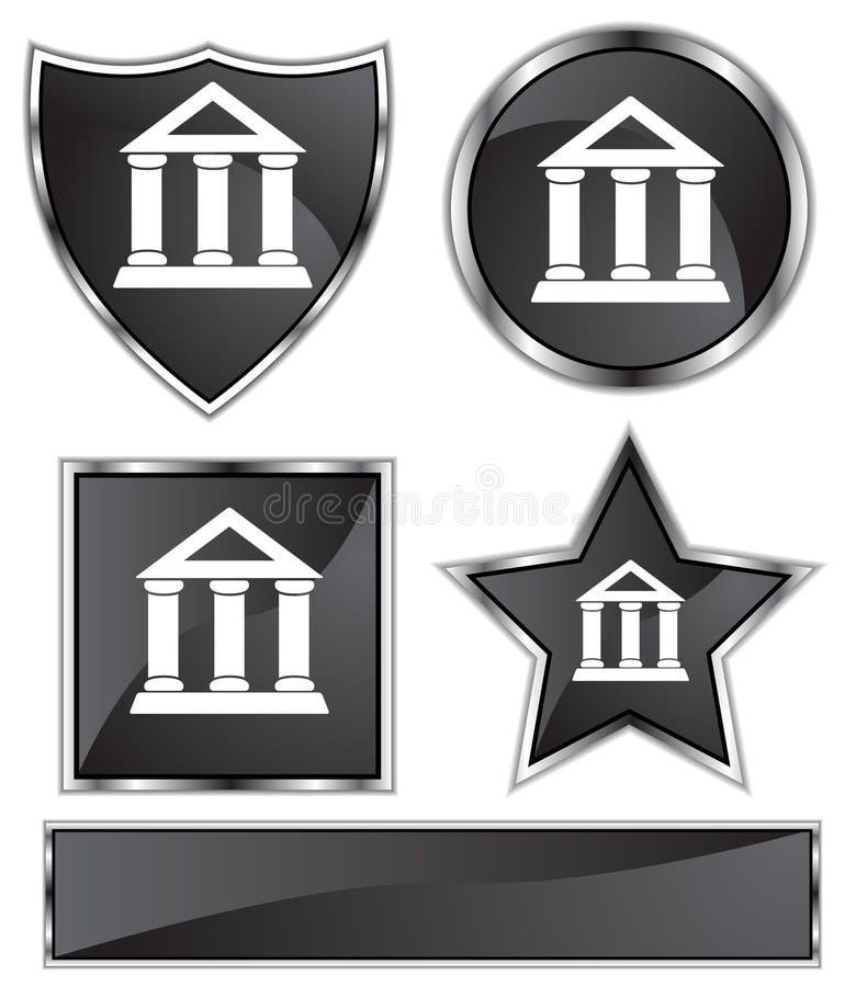 сатинировка банка черная иллюстрация штока