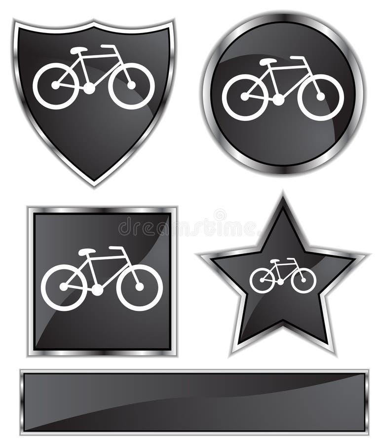 сатинировка велосипеда черная иллюстрация штока