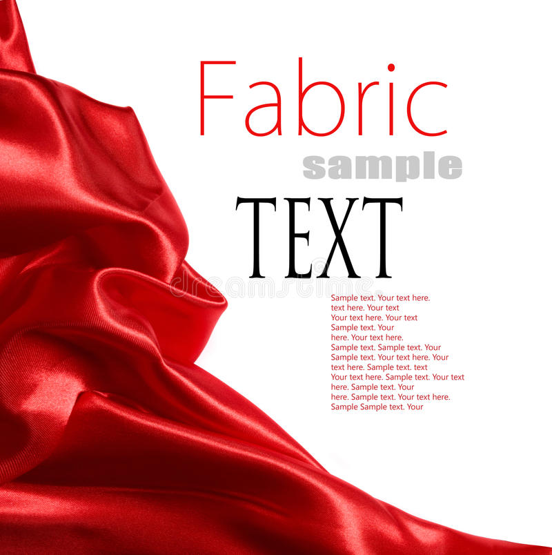 сатинировка красного цвета ткани стоковые изображения rf