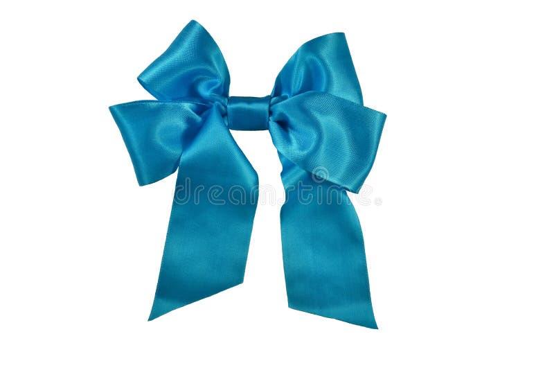 Сатинировка подарка голубой ленты стоковые фото