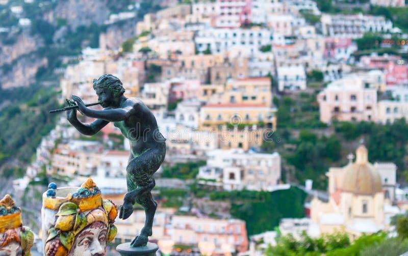Сатиры Positano стоковая фотография