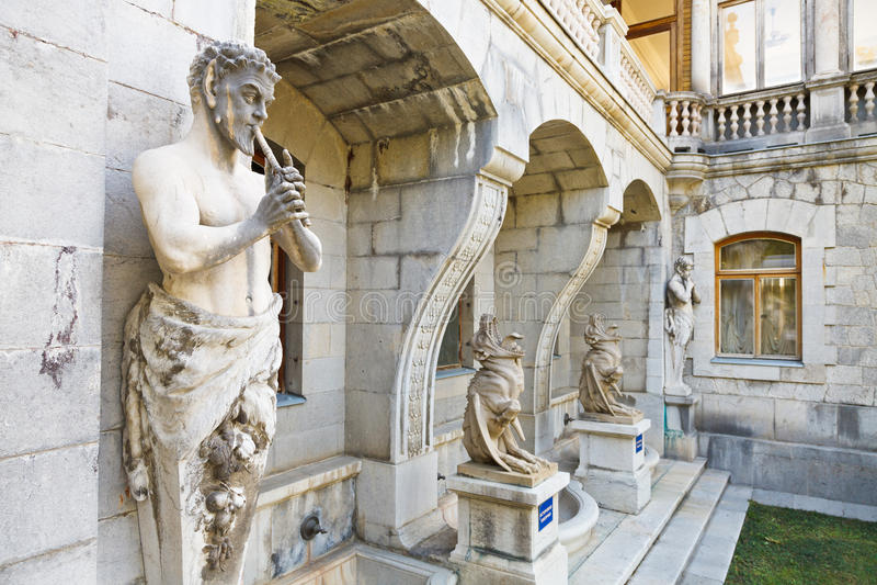 Сатир скульптур и химера дворца Massandra стоковое фото rf