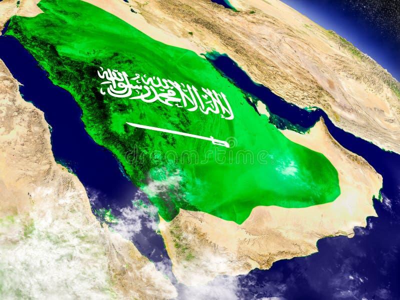 Download Саудовская Аравия с врезанным флагом на земле Иллюстрация штока - иллюстрации насчитывающей borgia, карта: 81802705