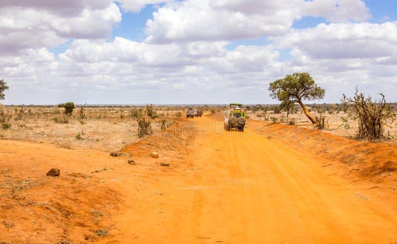 сафари дороги Кении стоковые изображения rf