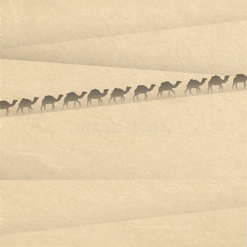 Сахара с силуэтами кулачка бесплатная иллюстрация
