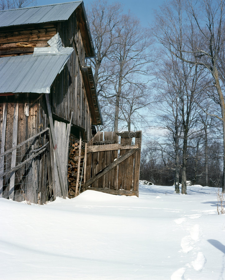 сахар лачуги ontario lanark графства Канады стоковое фото rf
