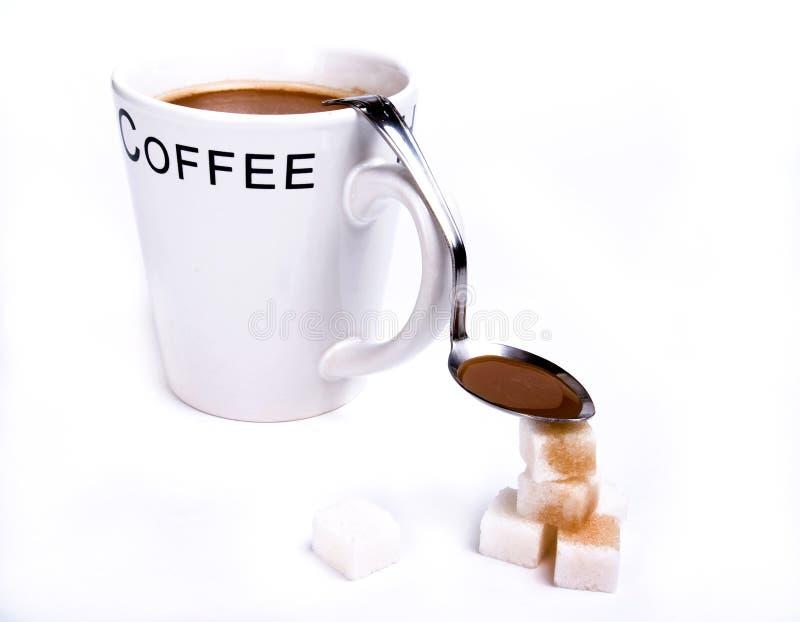 сахар ложки кофе стоковое фото
