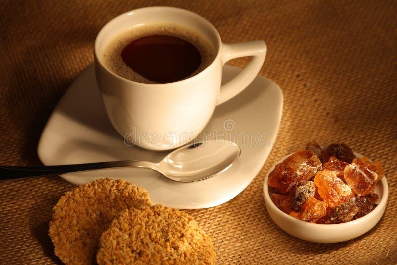 сахар чашки печений кофе свежий стоковое фото
