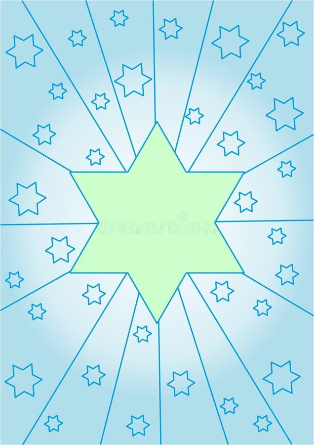Салатовая звезда на бледном - голубая предпосылка стоковое фото