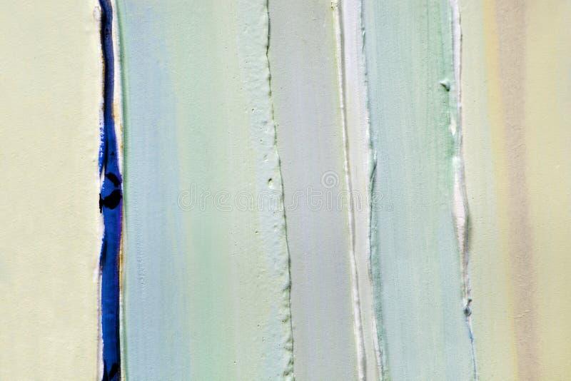 Салатовые прокладки толстых слоев краски, гипсолита стоковое фото