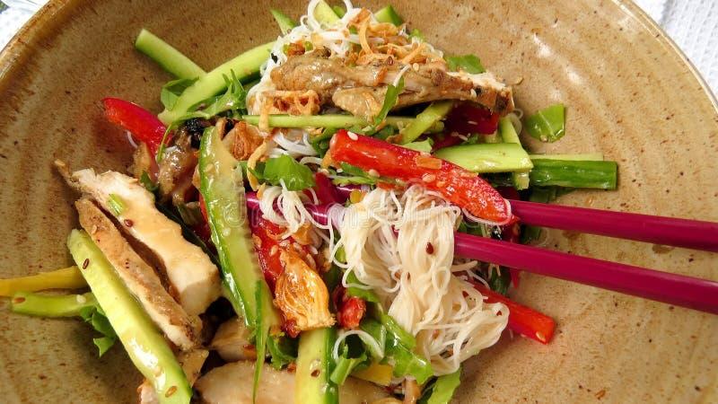 Салат лапши Сайгона стоковые изображения rf