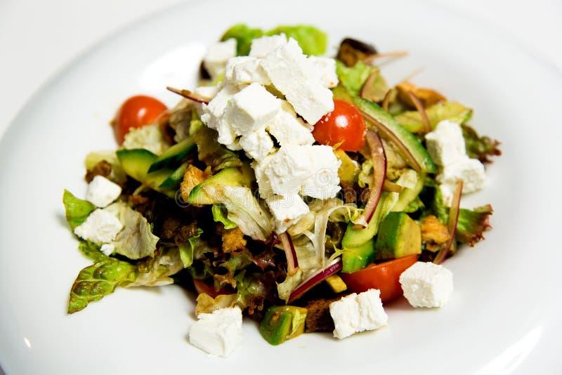 Салат лета с отбензиниваниями сыра фета стоковое фото