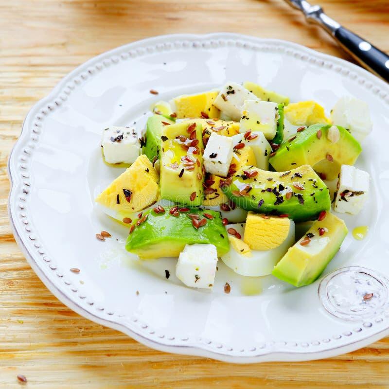 Салат зимы с авокадоом и фета стоковые изображения rf