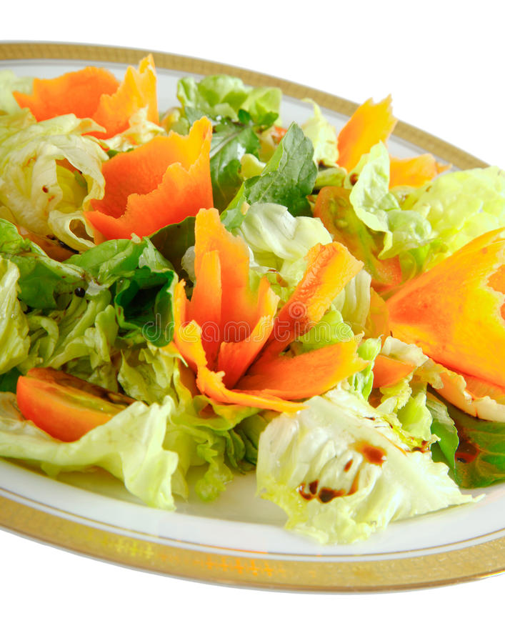 Салат и морковь стоковая фотография